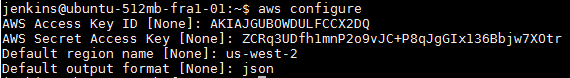AWS JSON Default Output Format
