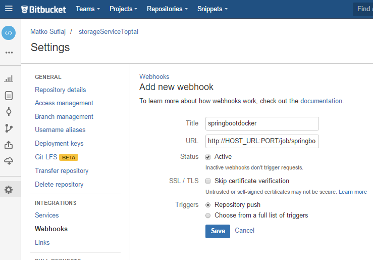 Bitbucket Webhook