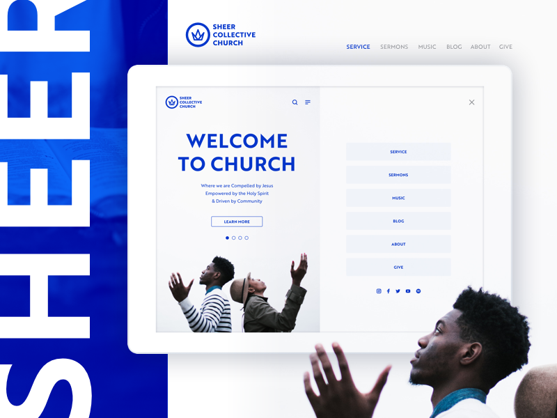 collective church landing page
