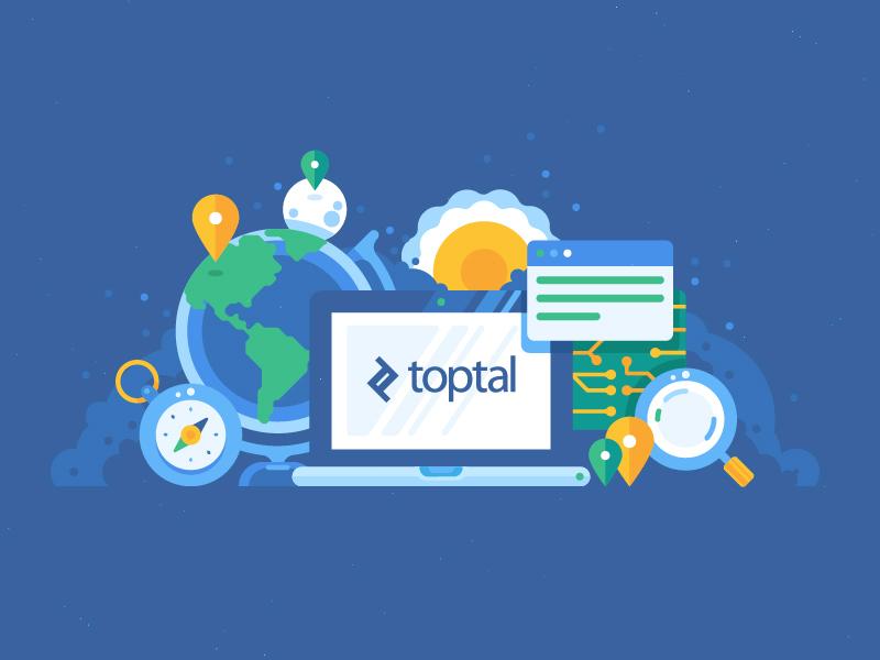 Toptal illustrations