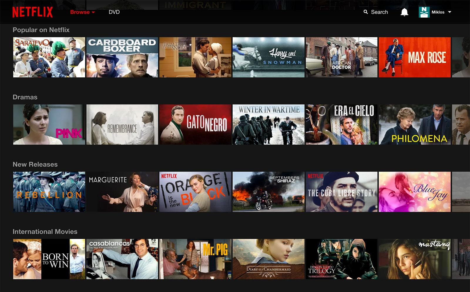 Netlfix UI personalization to boost user experience