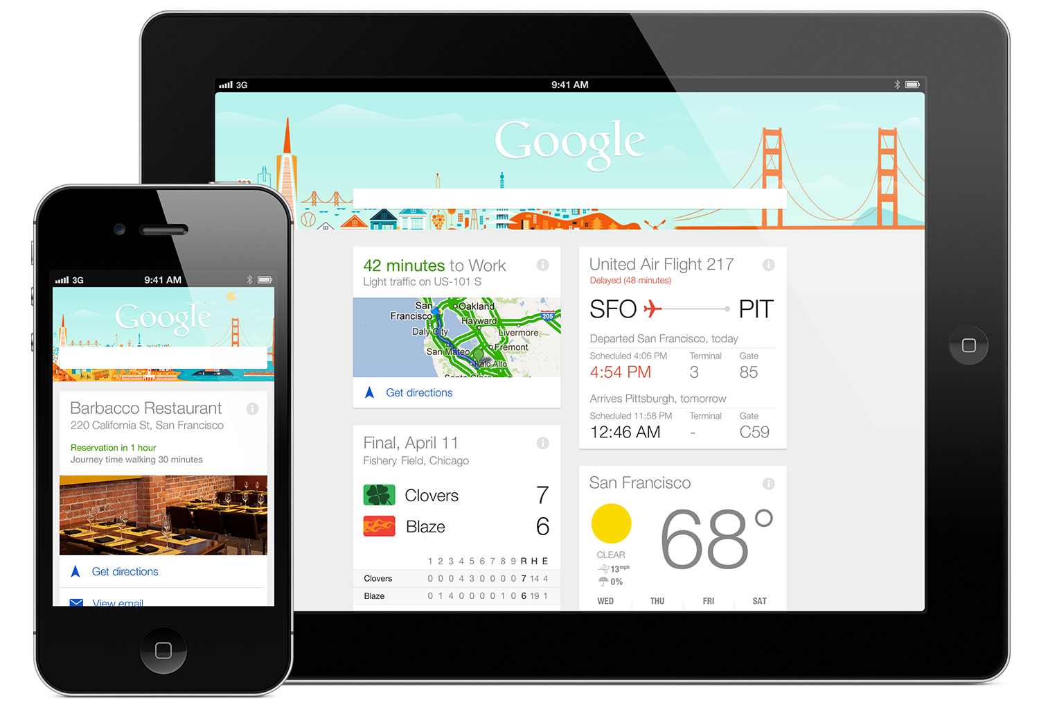 Google Now apps anticipatory design