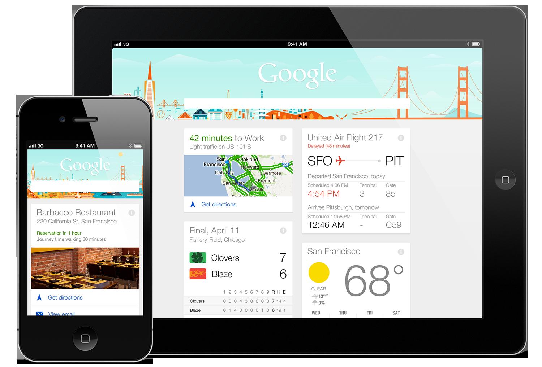 Google Now apps anticipatory design