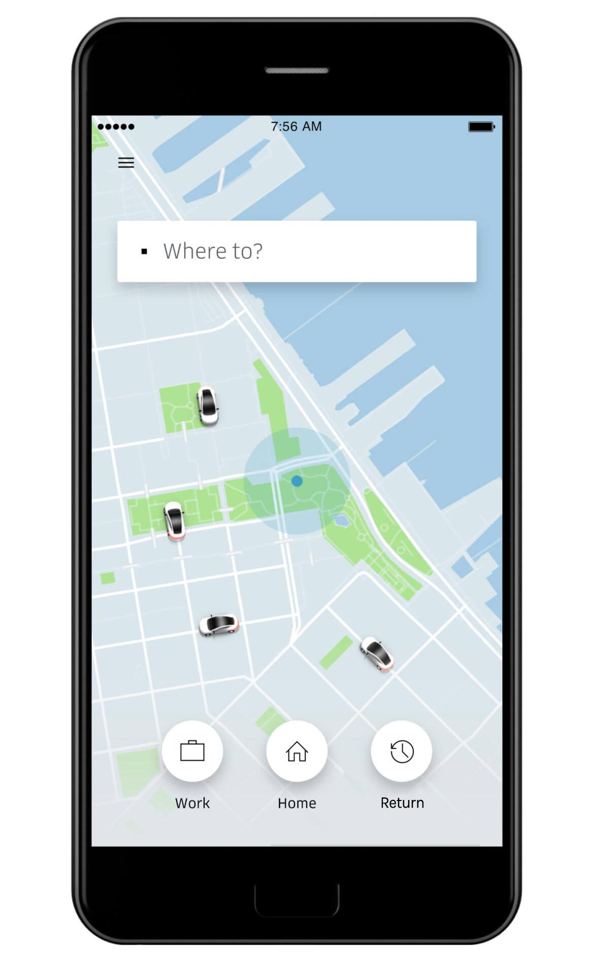 Uber mobile app anticipatory design