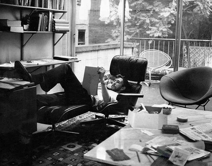 Jim Henson in Eames Lounge
