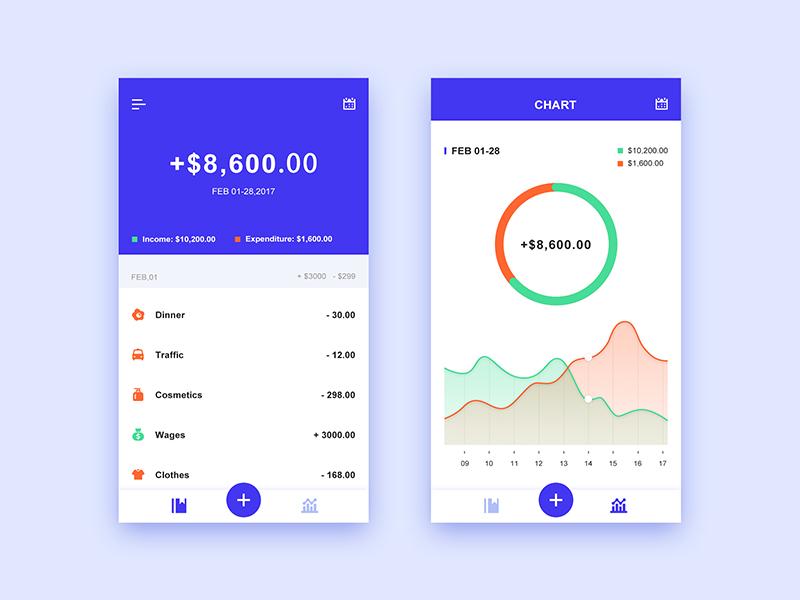 mobile app design hamburger menu