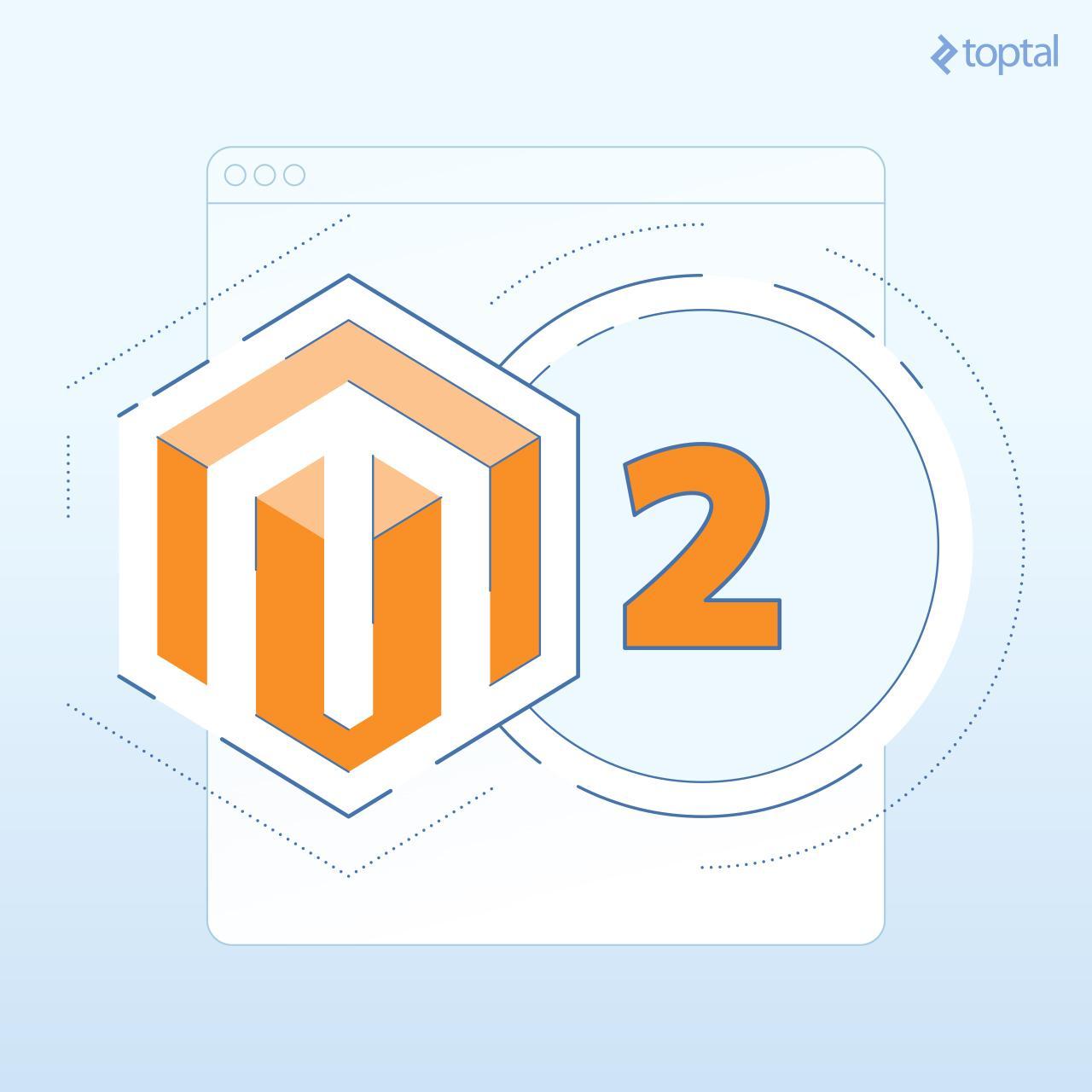 A stylized Magento 2 logo