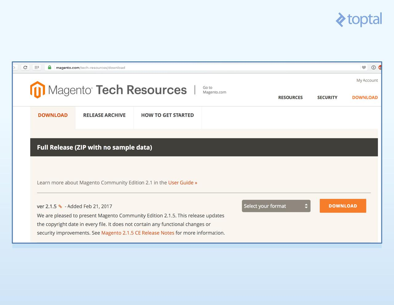 Magento 2 download page