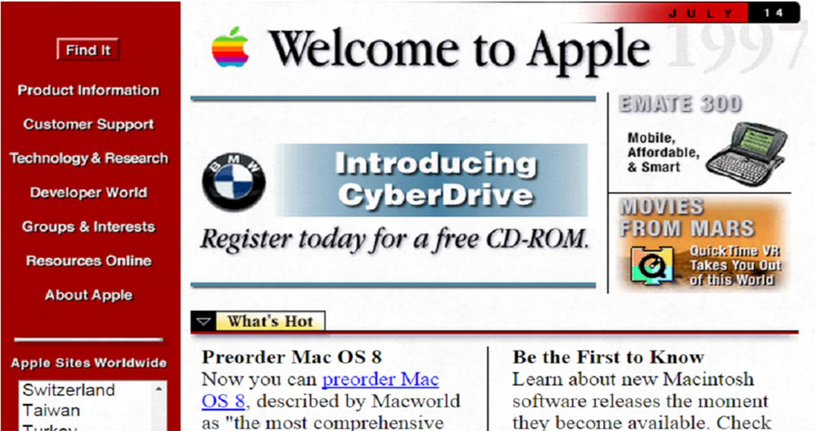 Apple Macintosh Website