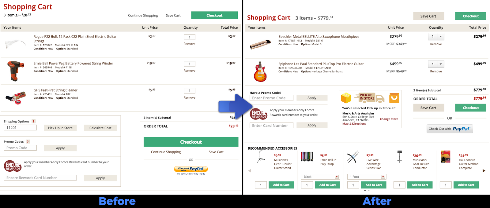 e-commerce responsive website design shopping cart