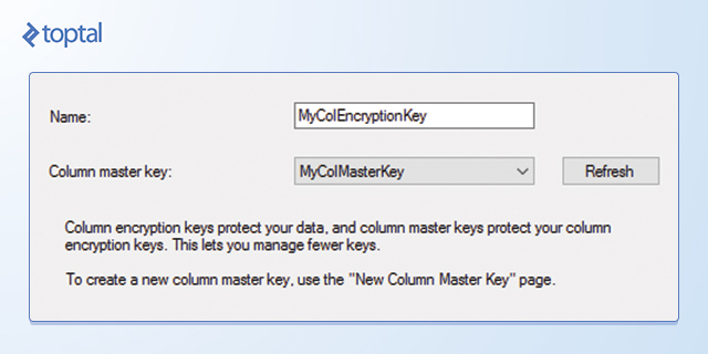 SQL Encryption: Column encryption key creation, image 2