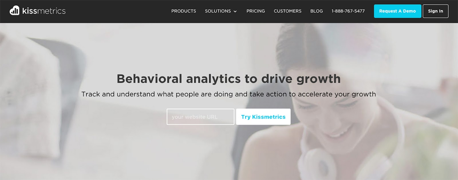 Image of KissMetrics' lead magnet
