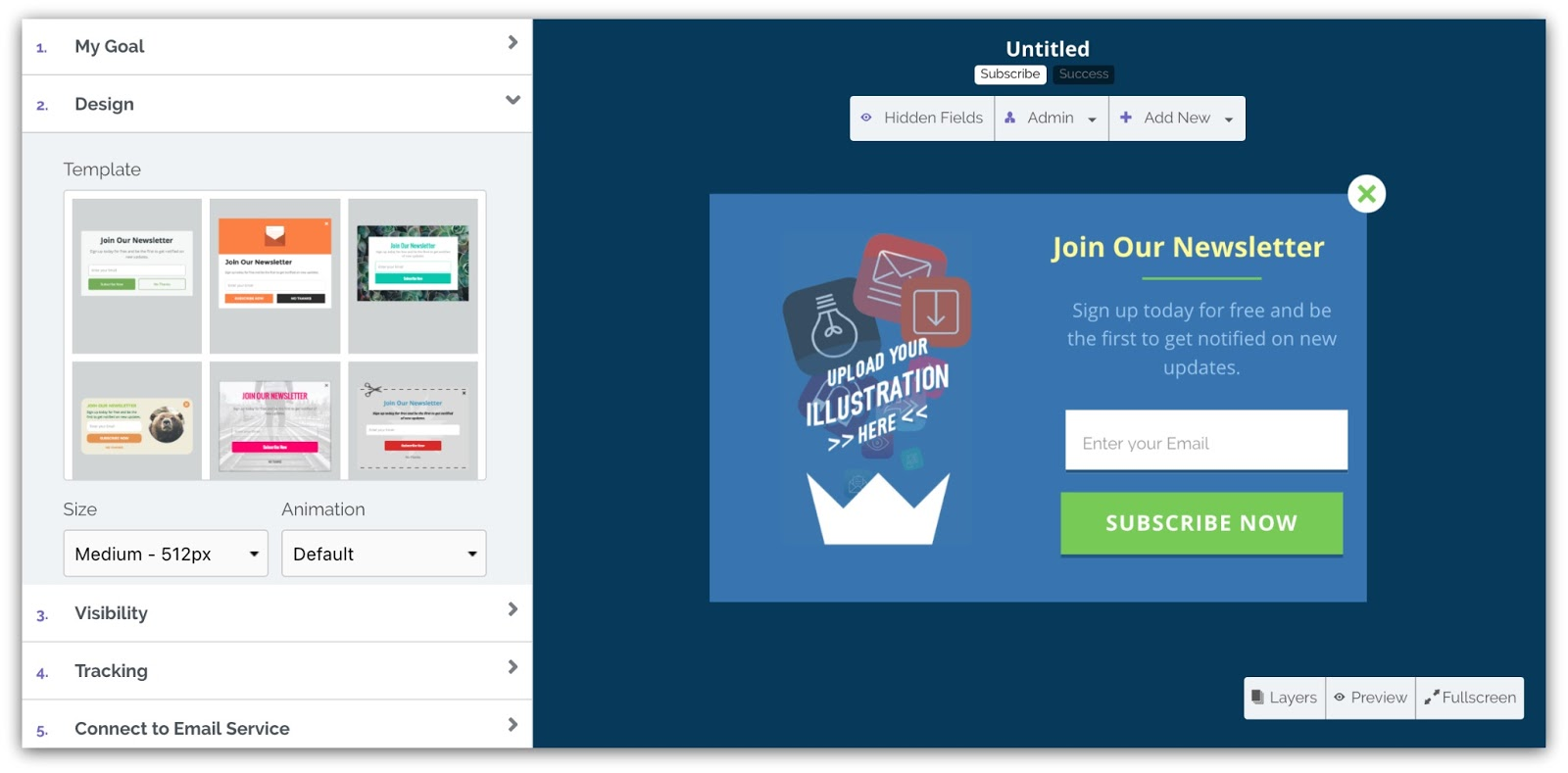 Image of Sumo's List Builder conversion funnel