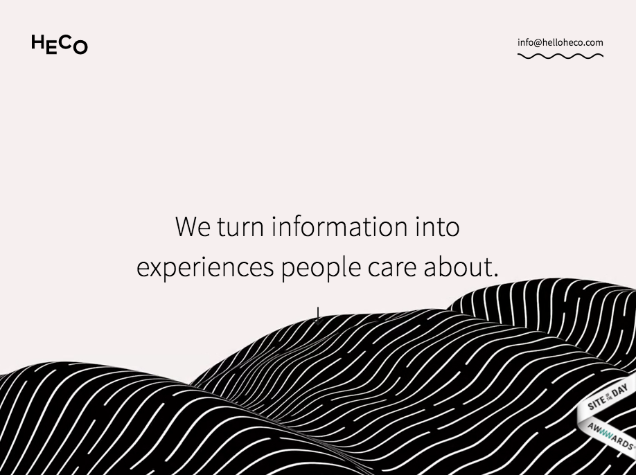Heco: This agency has created a complex website just using Webflow
