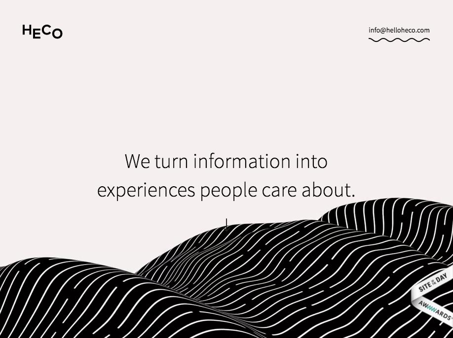Heco: Esta agencia ha creado un sitio web complejo sólamente usando Webflow