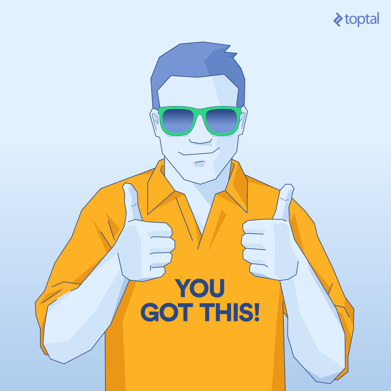 "man wearing a t-shirt that say's ""you got this"""