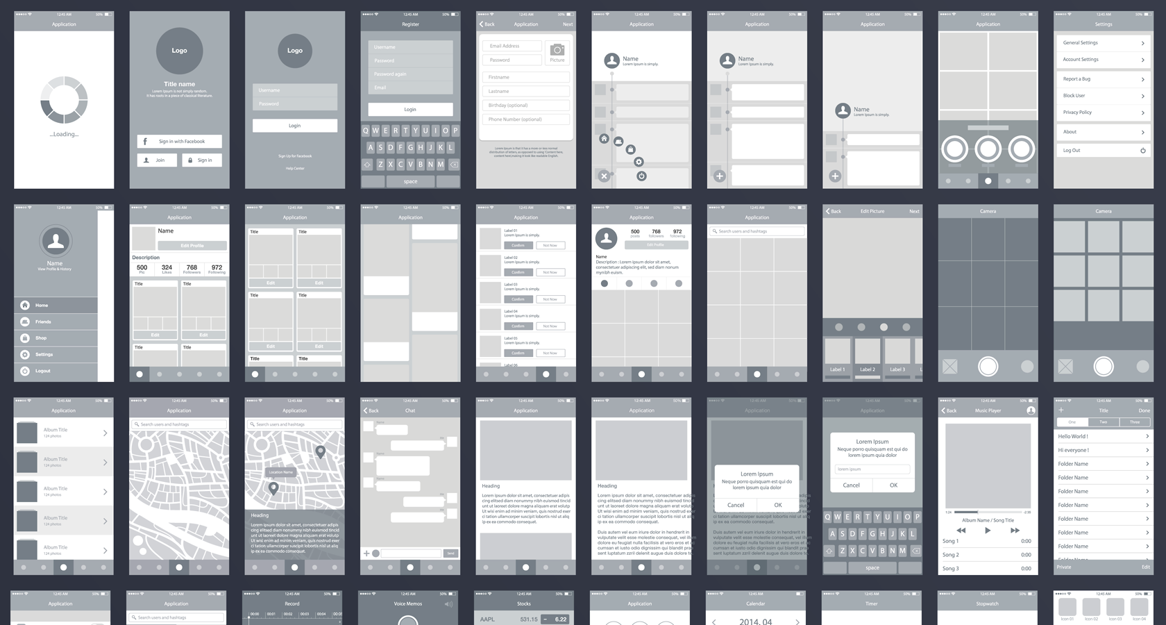Death to Wireframes - Mobile wireframing example