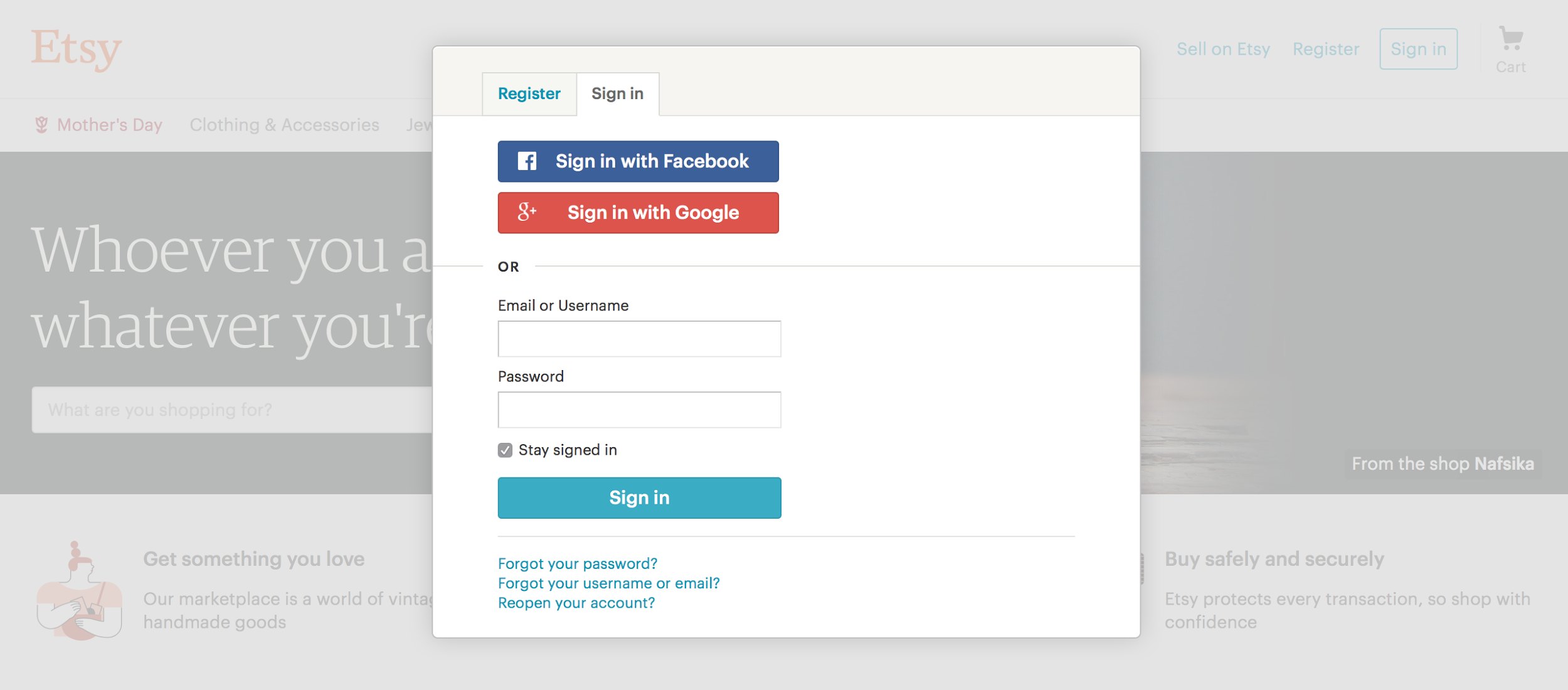 Social sign-in, social login
