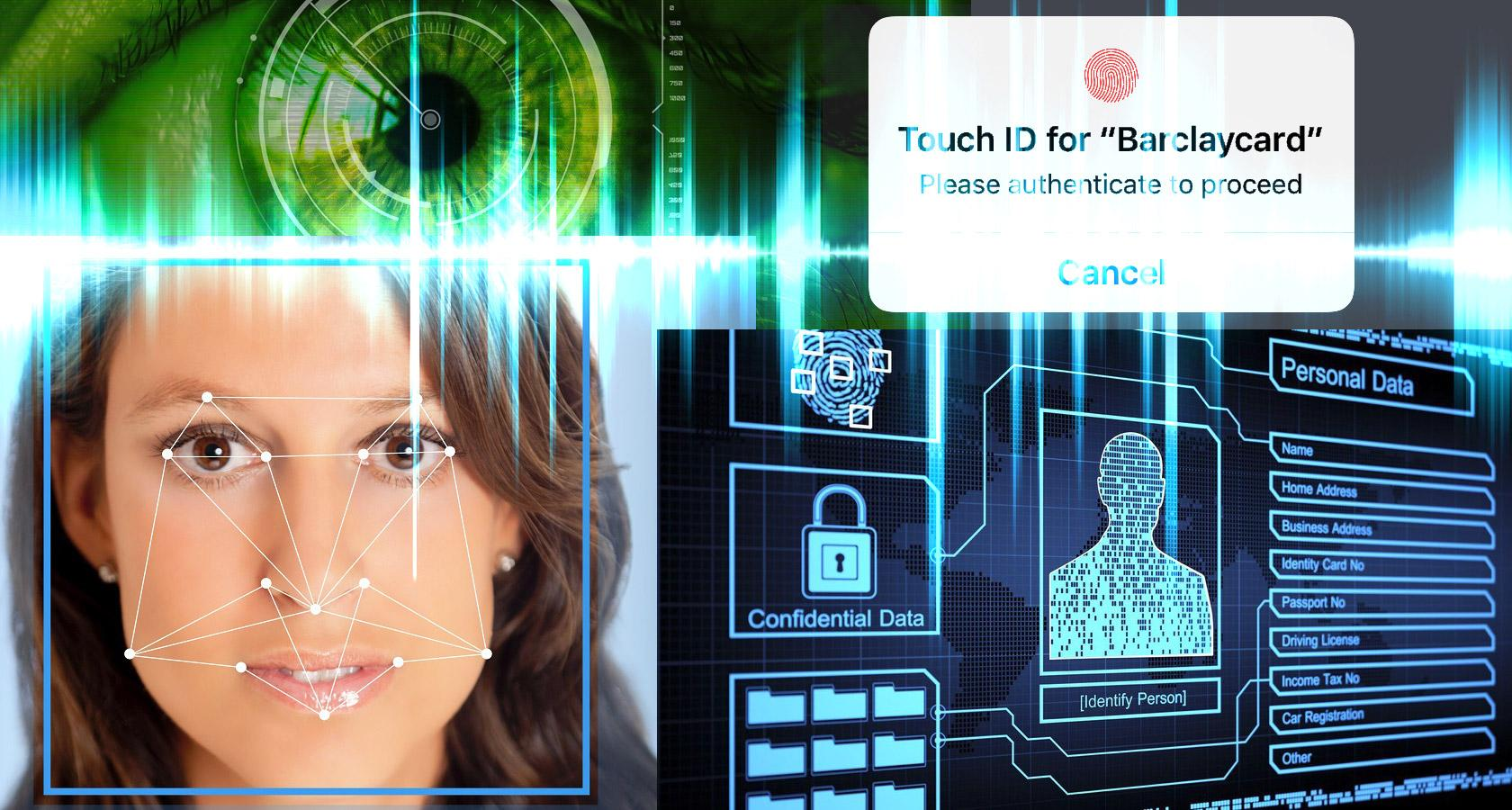 Biometric identification and personal data security, web forms