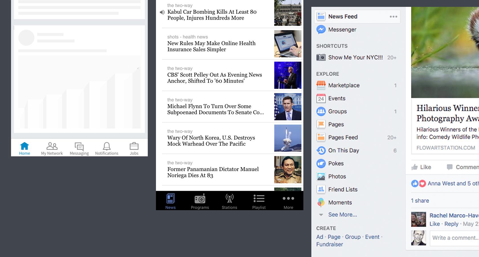 Linkedin dan Facebook UI memberi label praktik terbaik desain interaksi ikon