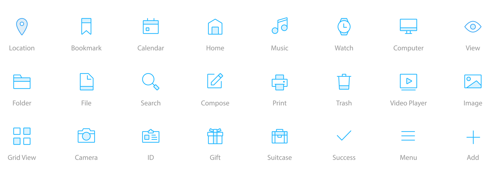 Icons in a user interface are instantly recognizable