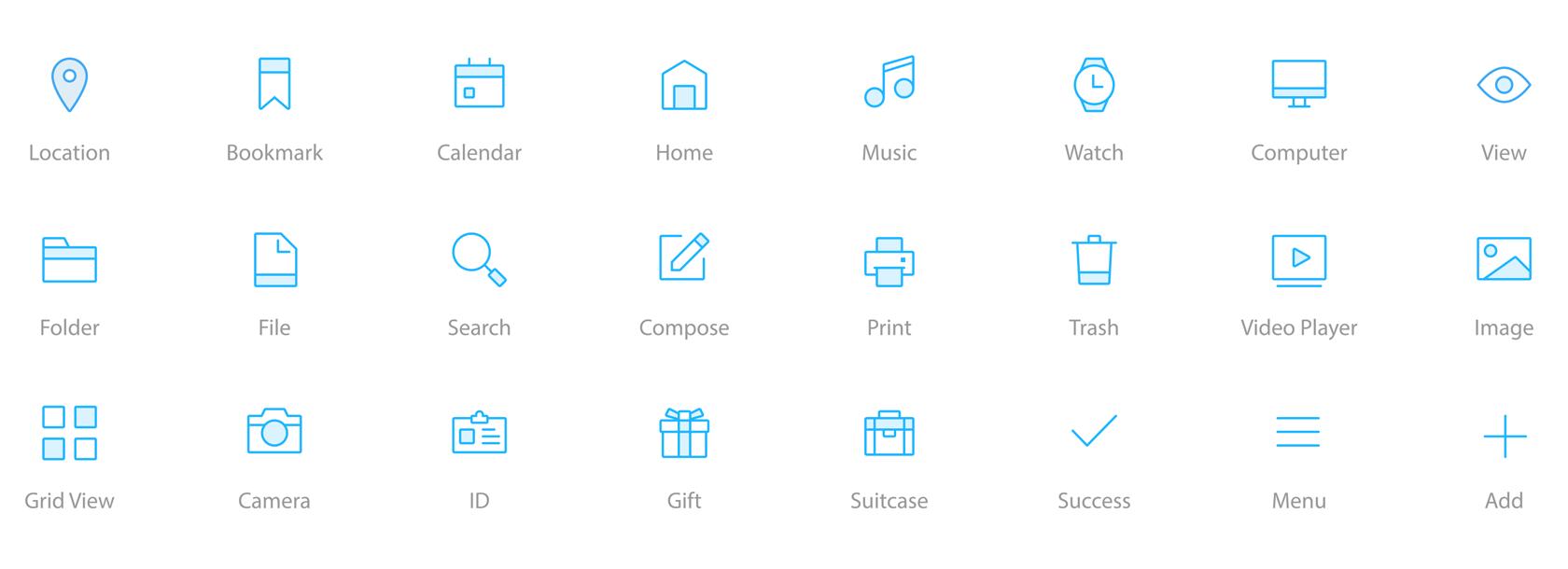 Ikon dalam antarmuka pengguna dapat dikenali secara instan - desain interaksi yang hebat