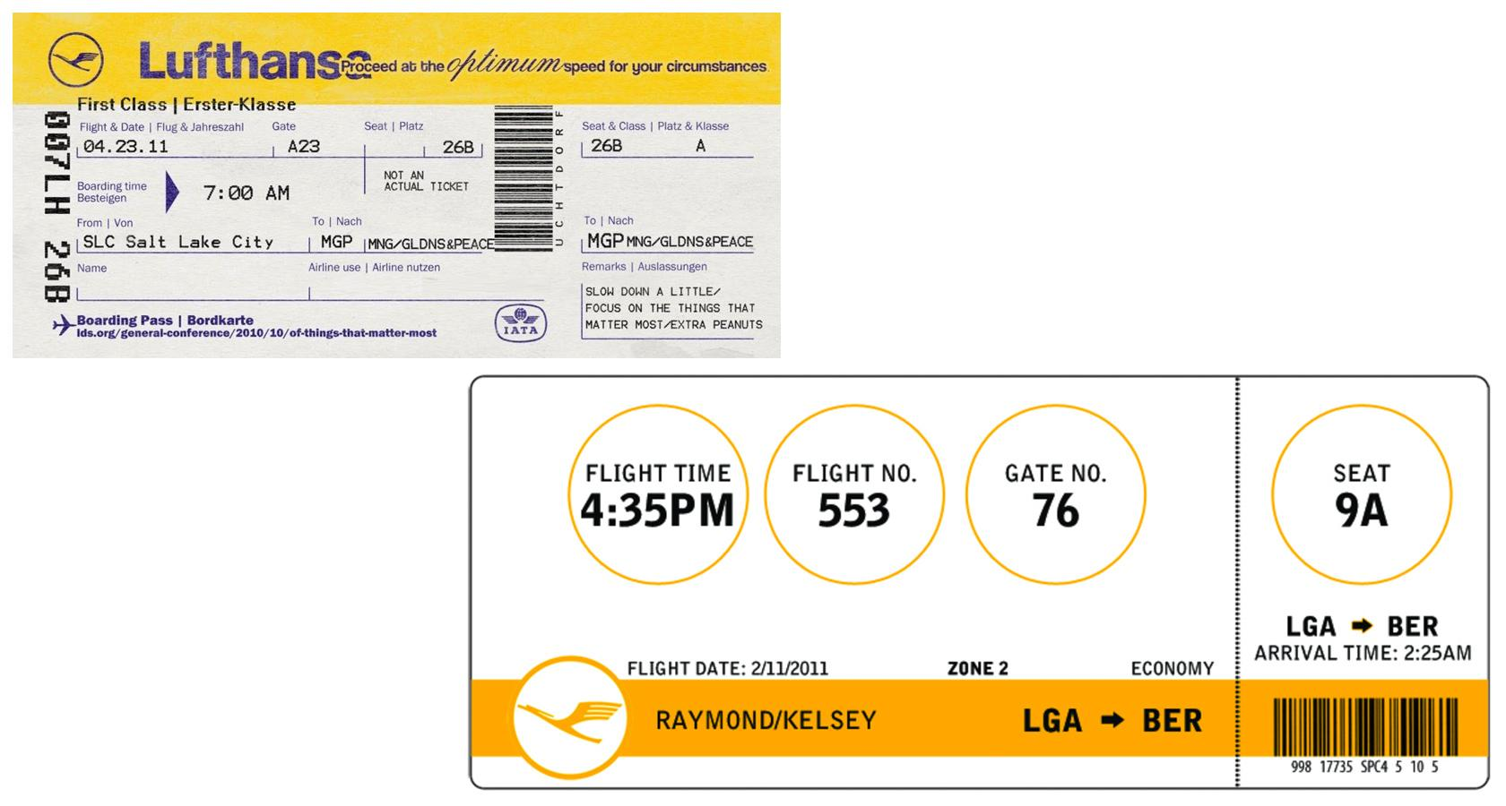 Lufthansa boarding pass redesign