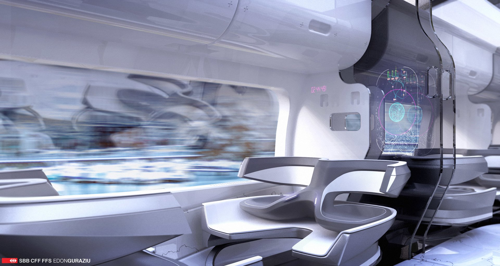 Train interior design