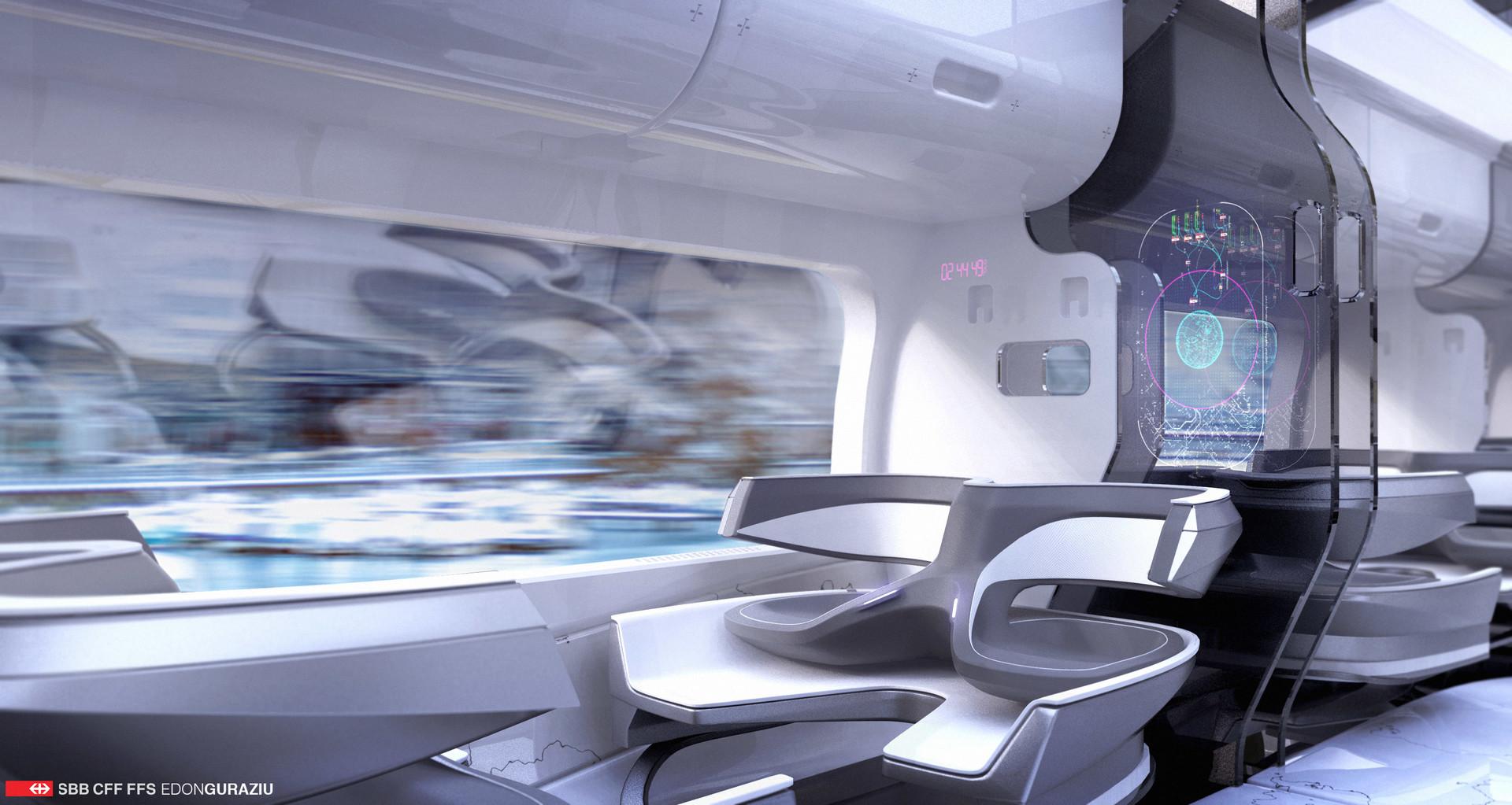 Diseño interior de tren