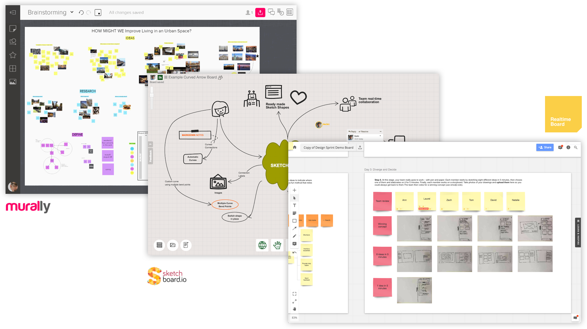 Digital tools such as virtual boards help UX workshop efficiency