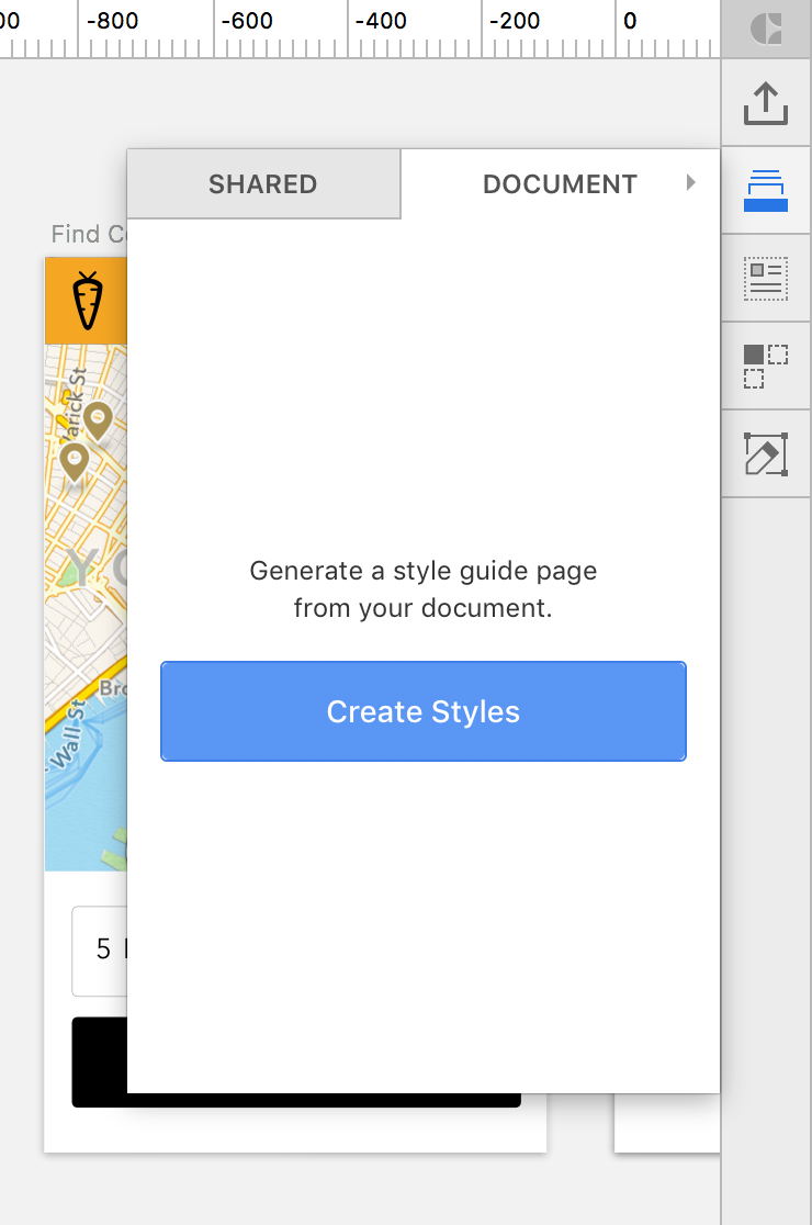 Generate a style guide in one click.