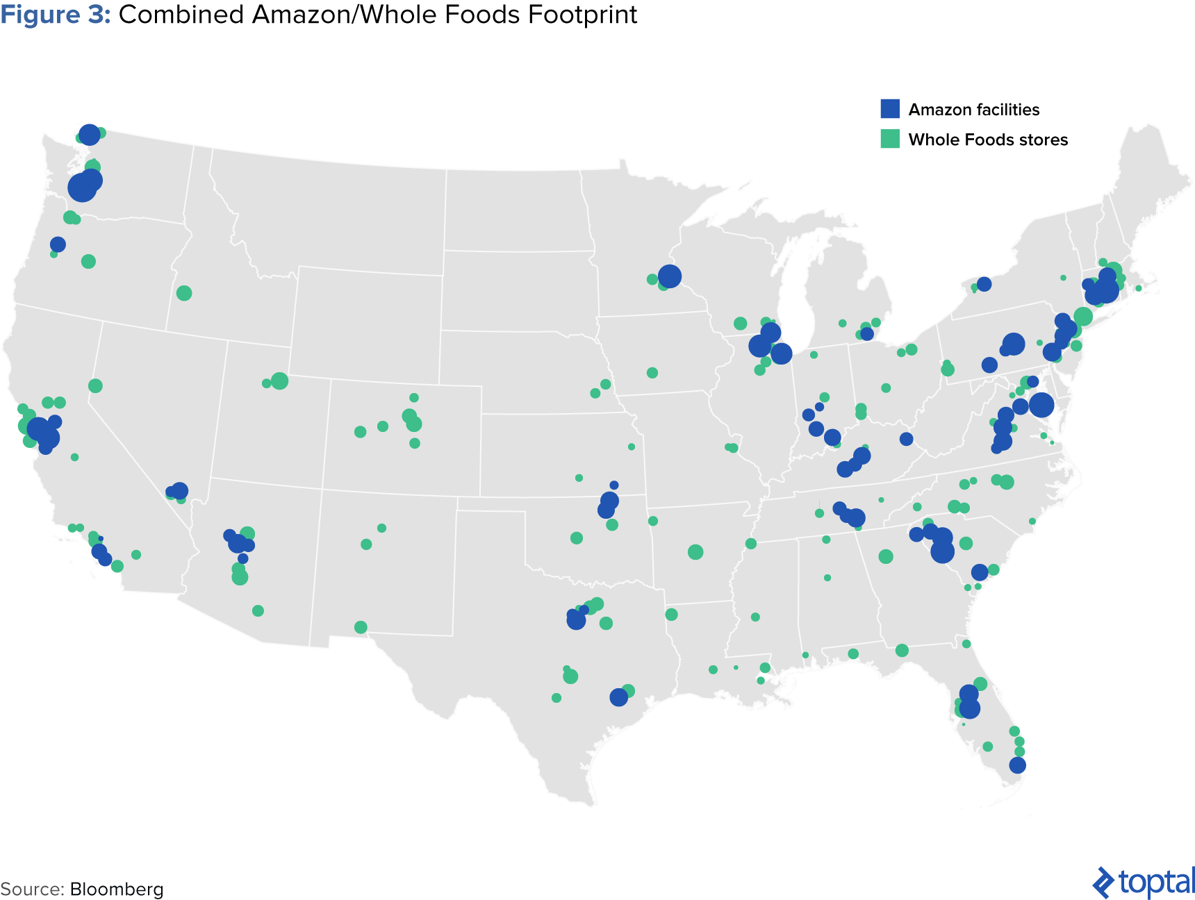 Figure 3: Combined Amazon/Whole Foods Footprint