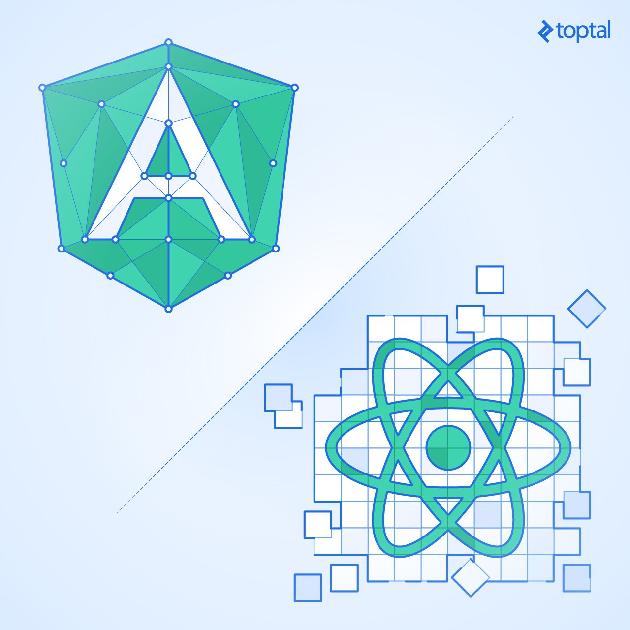 Angular vs. React: Choose the framework way, or tinker with libraries?