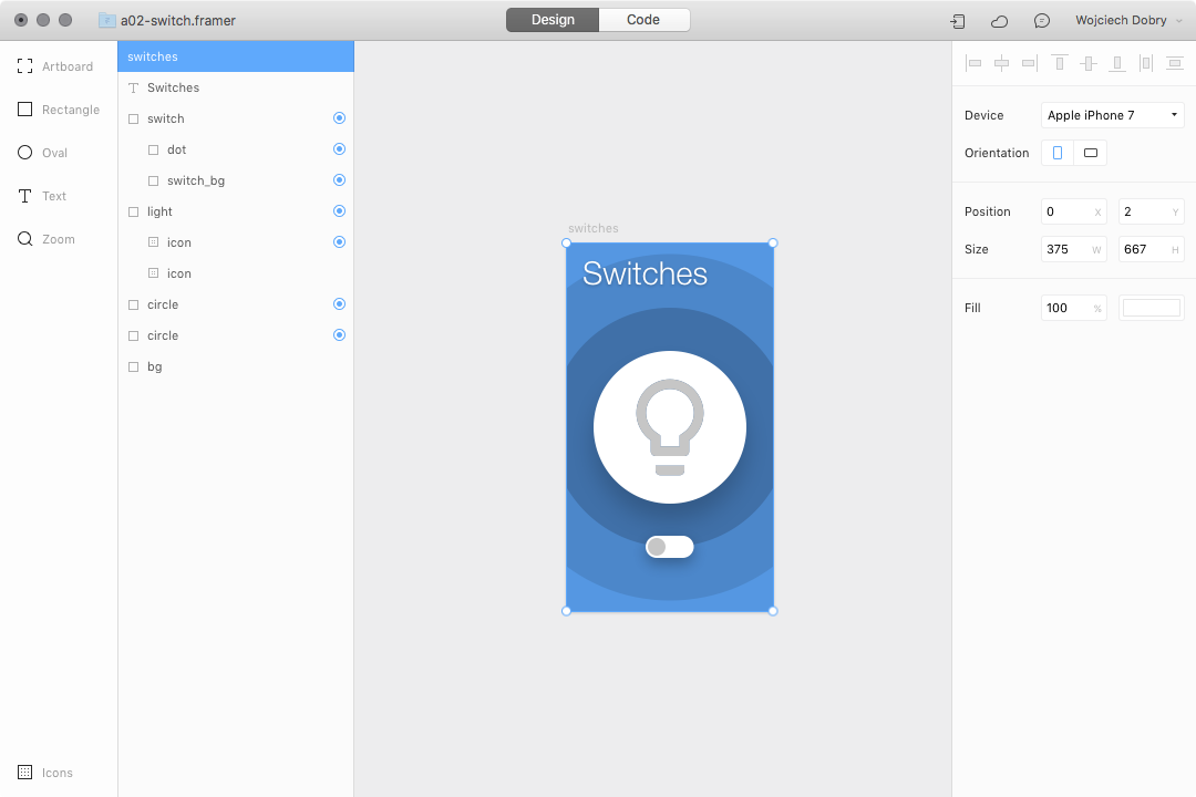 Switch design in Framer