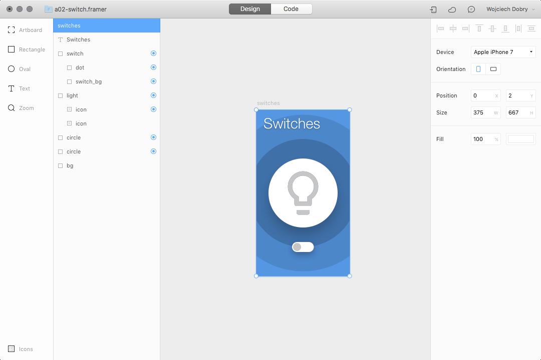 Switch design in Framer