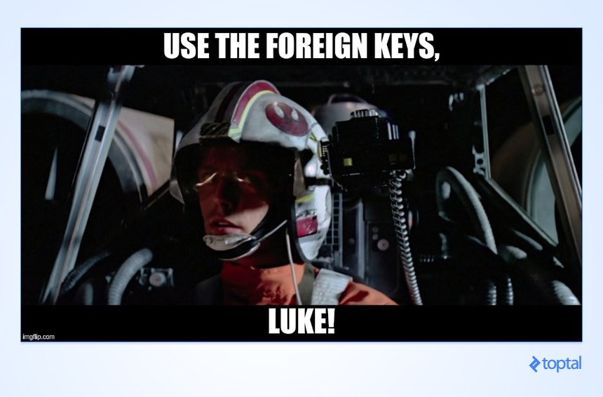 Use the foreign keys, Luke!