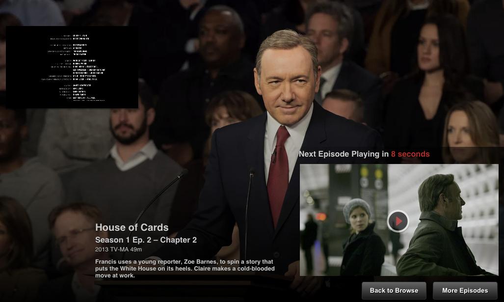 Netflix TV UI design