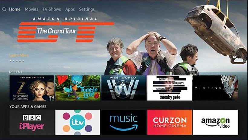 Amazon Video UI Design for TV UIs