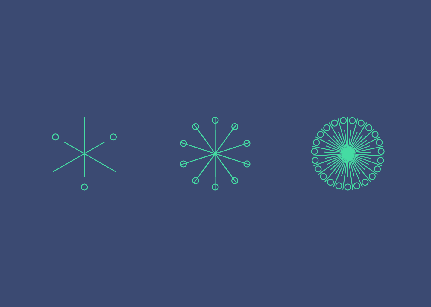 3 ornaments made with Sketch and Looper