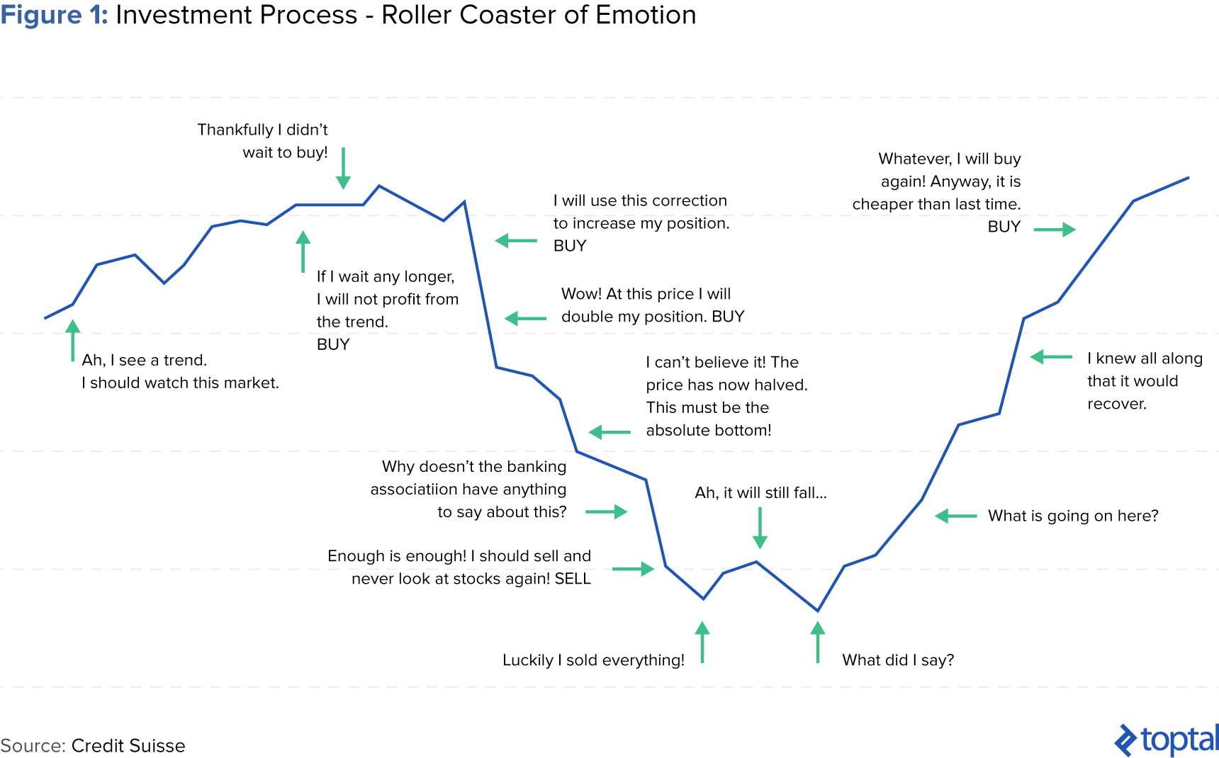 Figure 1: Investment Process - Roller Coaster of Emotion