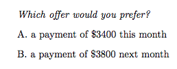 Sample question: Which offer would you prefer?