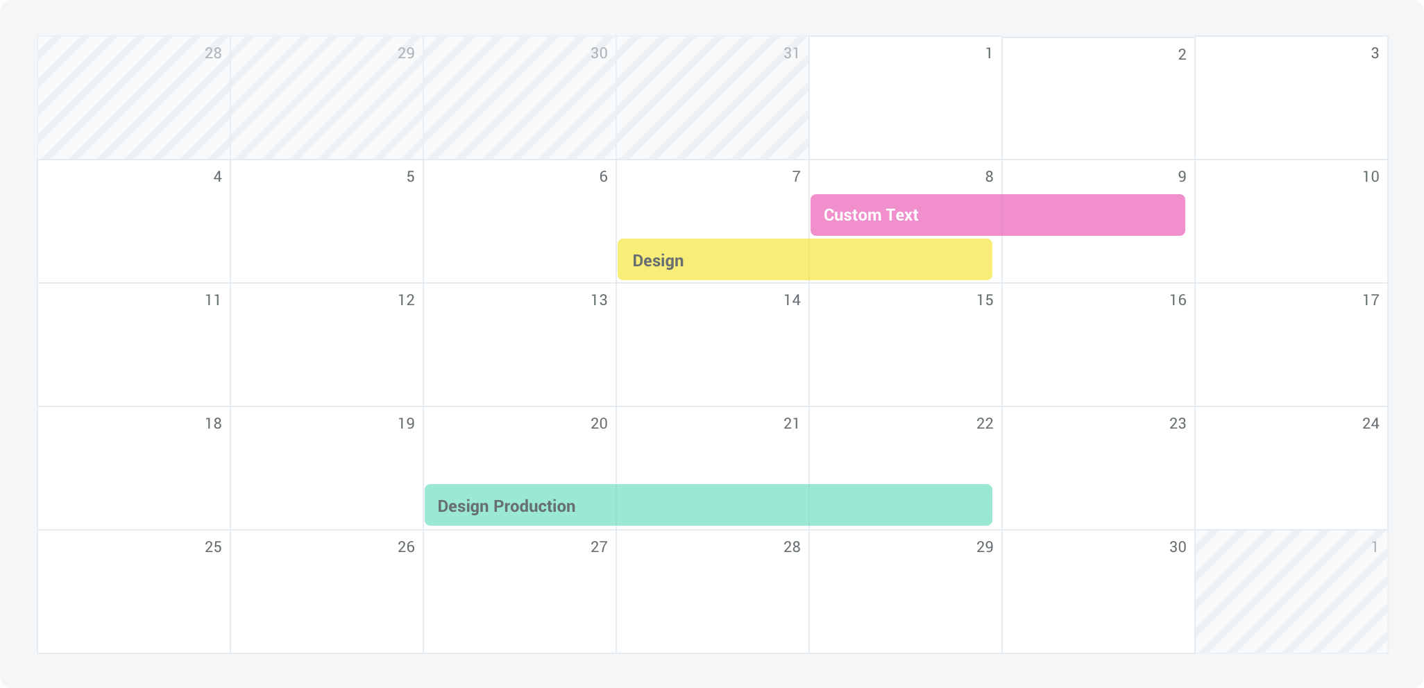 7 Column Calendar Sketch plugin