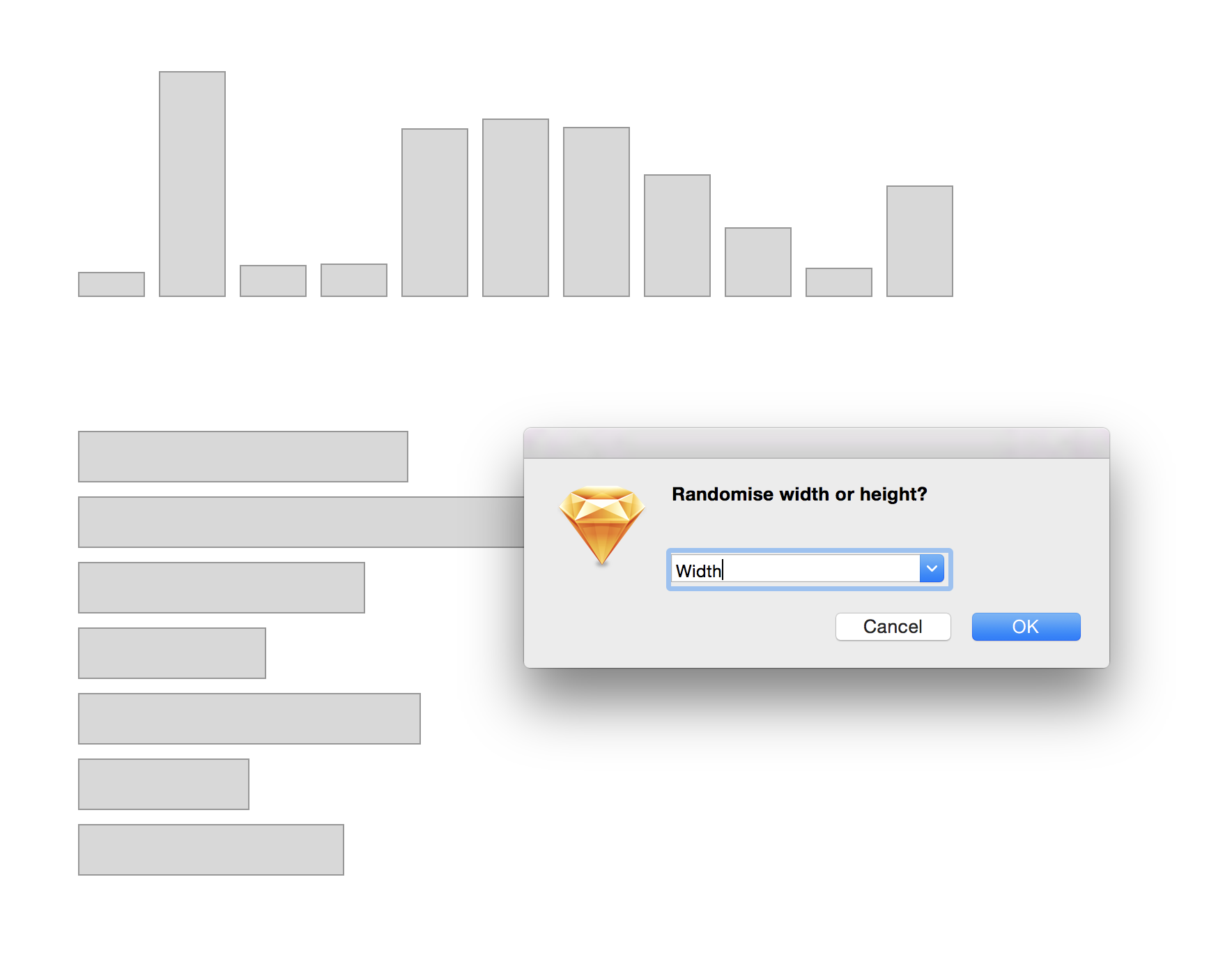 One of the best Sketch plugins: Random Sizing plugin