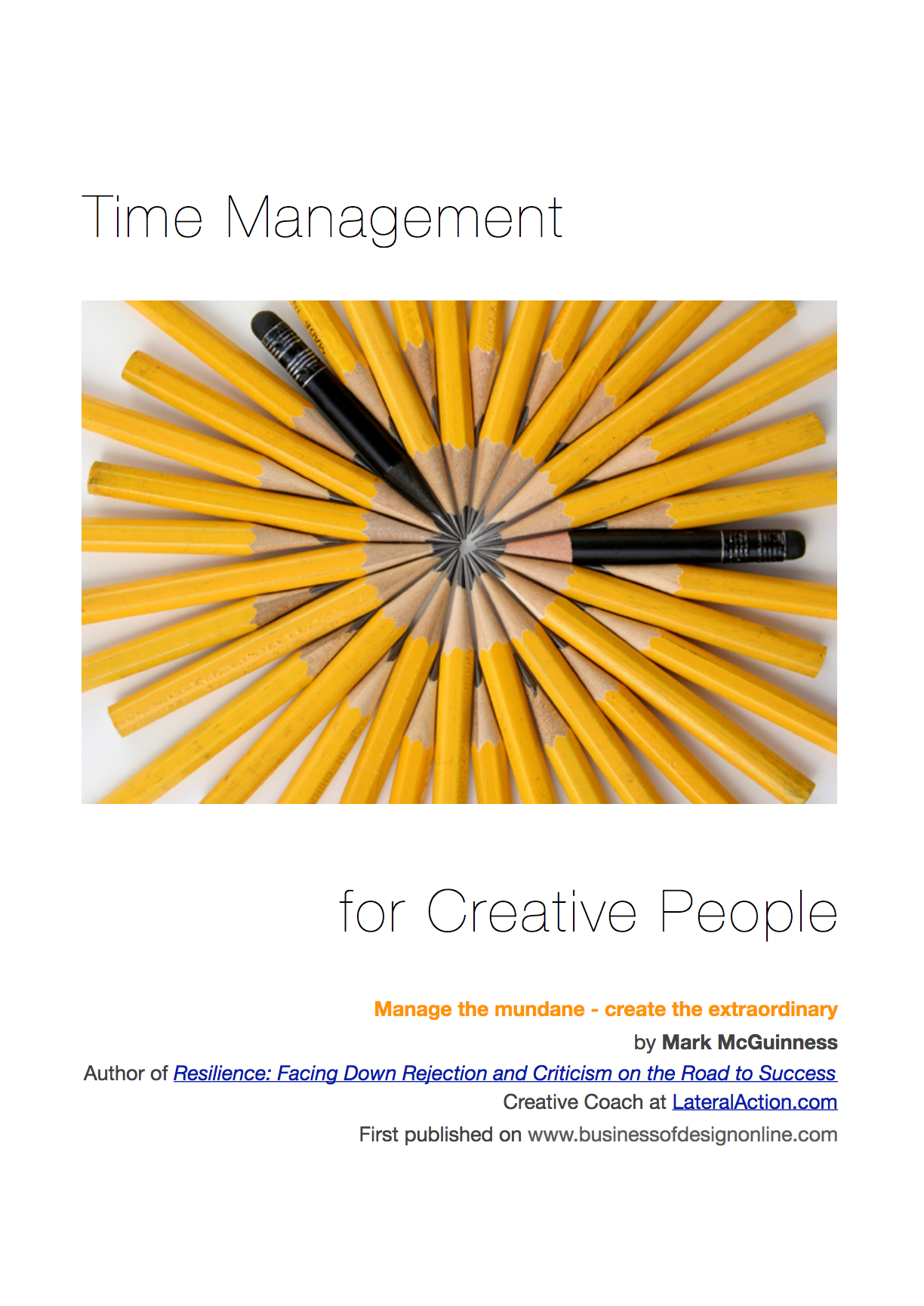 Time Management for Creative People — Mark McGuinness
