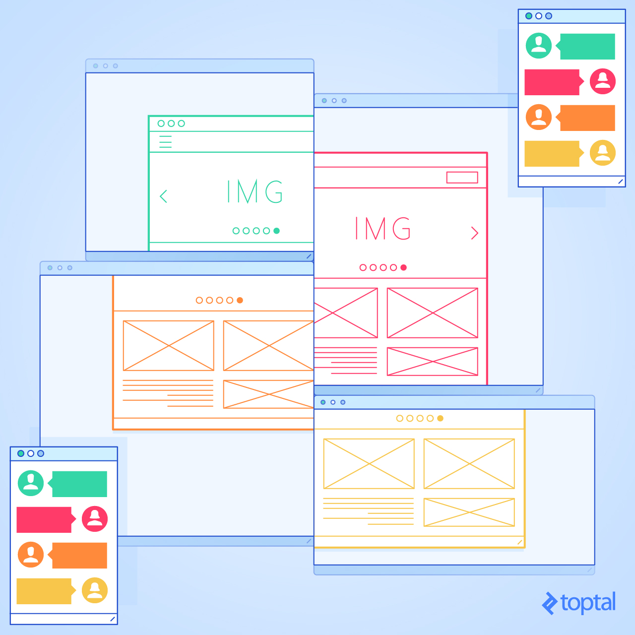 Image of a wireframe collage