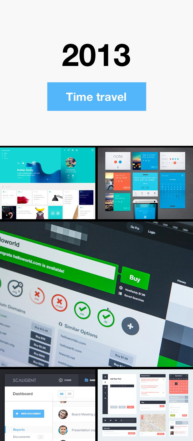 Diseño de botones del 2013