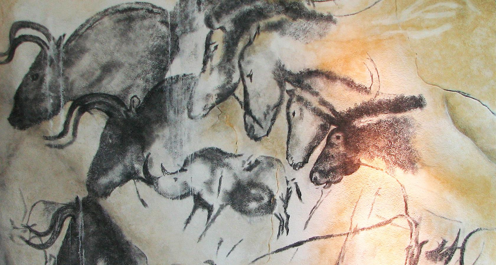 Prehistoric painting in the Chauvet Cave, France