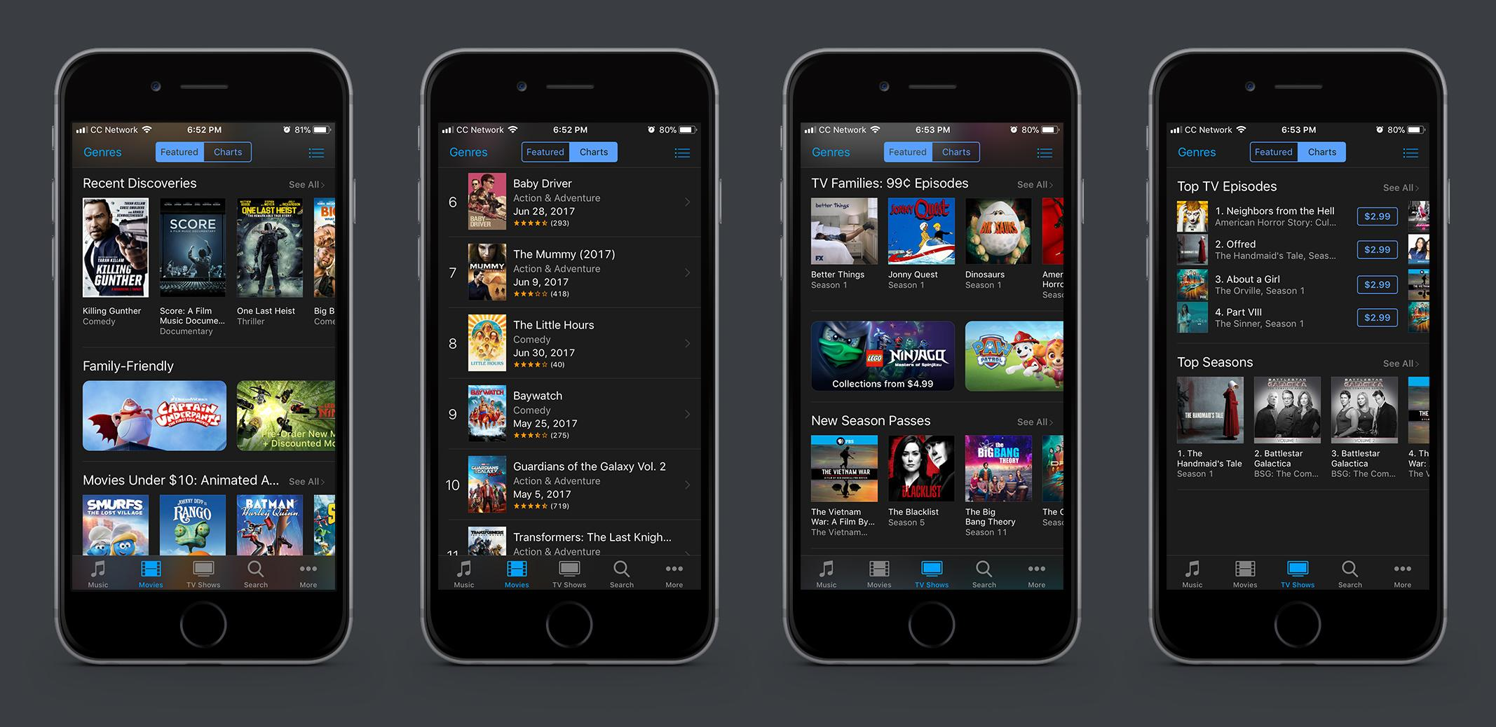Diseño de UI oscuro para Apple