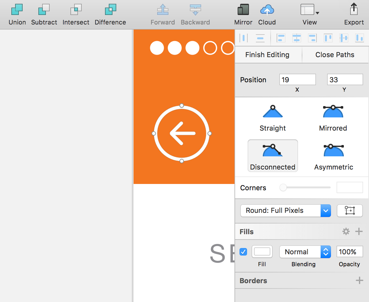 iOS UI design tutorial: Editing vector objects