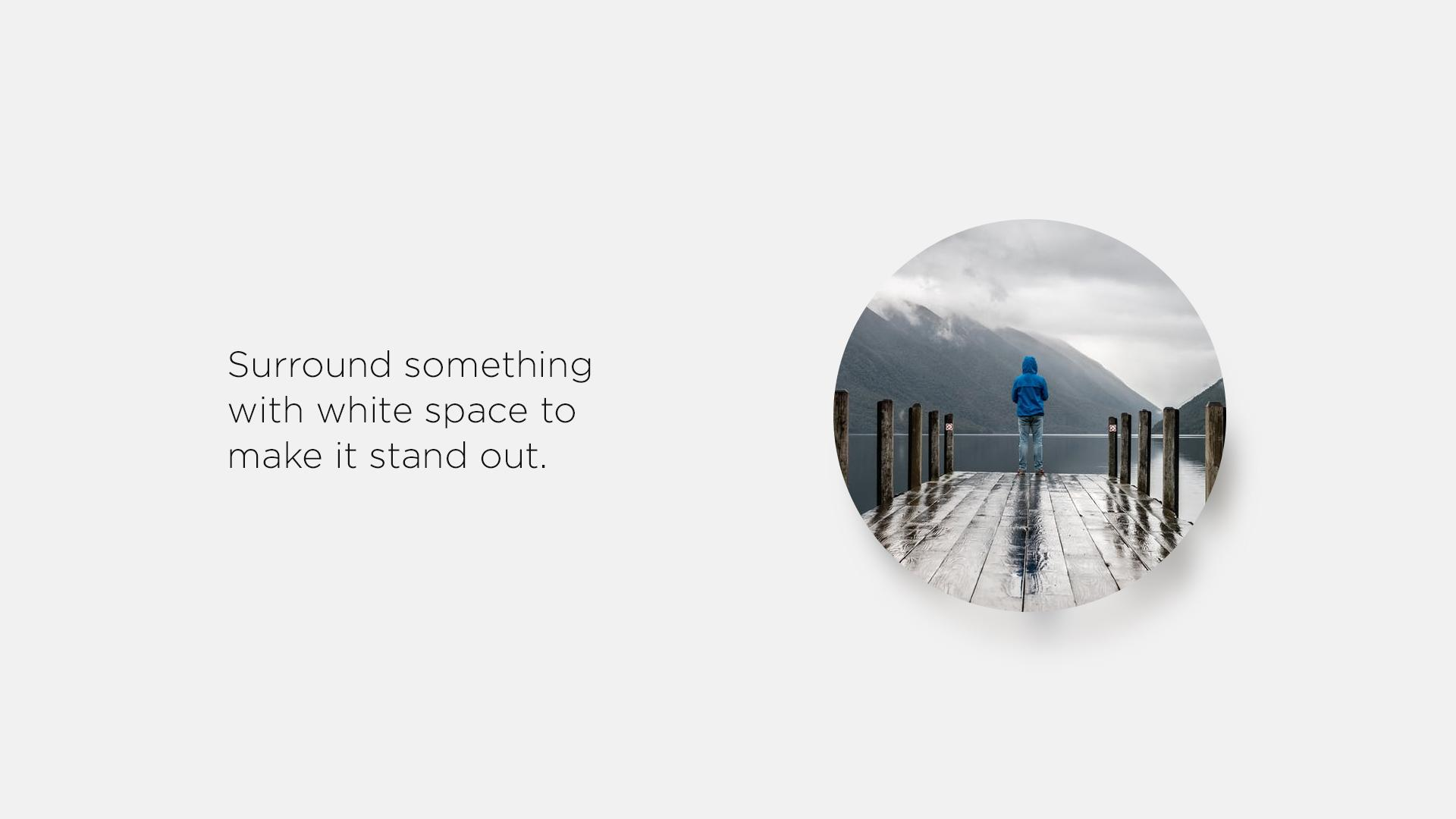 The use of white space in design allows your content to shine on any size screen